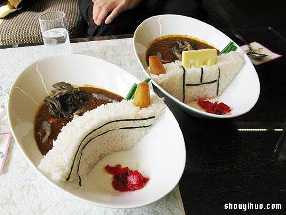 """创意十足的""""水坝咖哩饭"""" 想吃先洩洪!"""