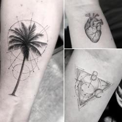 数理几何风格纹身图腾 给你不一样的灵感!