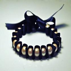 容易学的绸带串珠手串手链DIY制作图解教