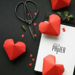 折纸立体爱心的折法 手工折纸立体心形图
