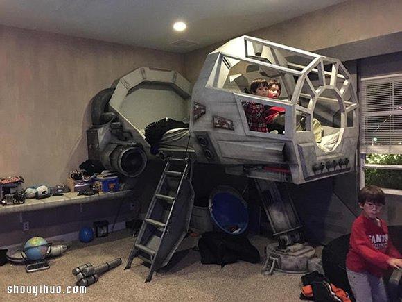 超酷星際大戰兒童床 讓小鬼頭自動上床睡覺