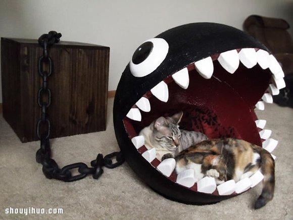 自制真实版利嘴链球猫床的方法教程图解 -  www.shouyihuo.com
