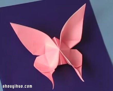 手工摺紙蝴蝶的折法教程動態圖