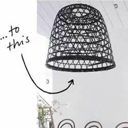 旧竹筐喷漆 简单改造DIY制作时尚灯罩