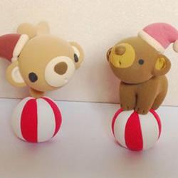 软陶粘土手工制作表演杂耍小熊公仔图解