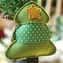 超萌不织布圣诞树装饰品手工制作图解教程