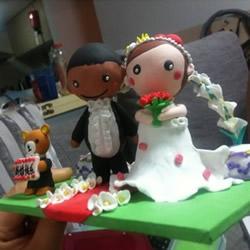 可爱的新郎新娘软陶公仔