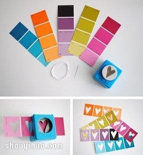 用卡纸装饰照片_彩色卡纸制作漂亮桃心挂饰的方法图解教程_手艺活网