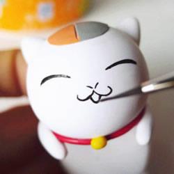 可爱招财猫软陶玩偶DIY手工制作图解教程