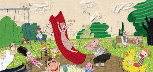 Lena Guberman 趣味十足的拼布画作品 -  www.shouyihuo.com
