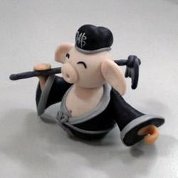 猪八戒软陶制作方法 猪八戒粘土制作图解