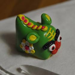 粘土制作可爱的单头布老虎儿童玩具图解