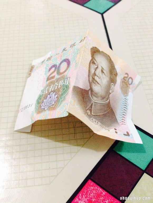 立体心形折纸_纸币折纸520(我爱你)表白爱心的折法图解_手艺活网