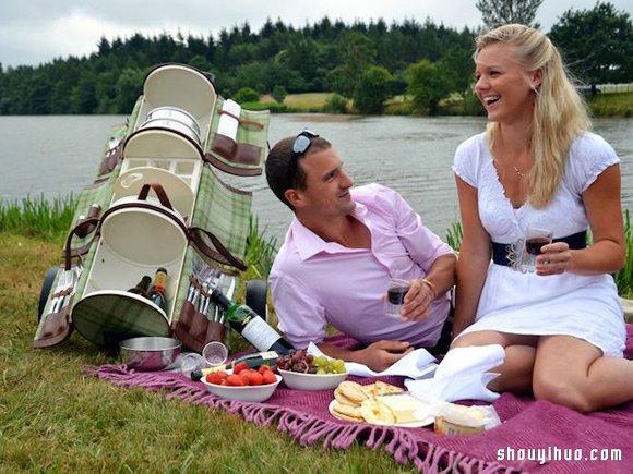 Gourmet Trotter 3層野餐推車設計