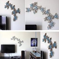 卫生纸卷筒变废为宝DIY墙壁装饰画梅花