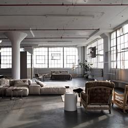 利用厂房改造的正宗工业风居家/工作空间
