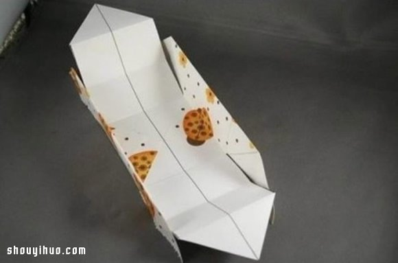 礼物包装盒折法图解 手工折纸包装纸盒方法 -  www.shouyihuo.com