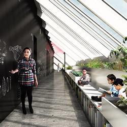 蒙古住宿学校设计 绵延的黑板墙面与自然