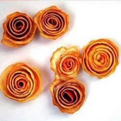 利用橙子皮手工DIY制作漂亮花朵的方法