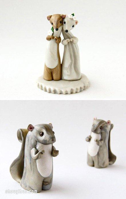精美细腻的陶艺动物雕塑作品欣赏 -  www.shouyihuo.com