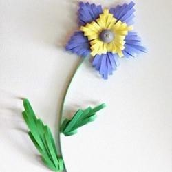 简单衍纸花朵的制作方法图解过程步骤