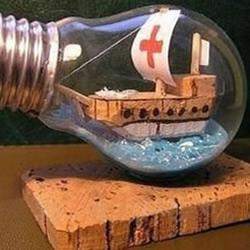 灯泡变废为宝DIY超漂亮的漂流瓶装饰摆件