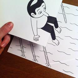一张纸一支笔 手绘出互动式3D立体画