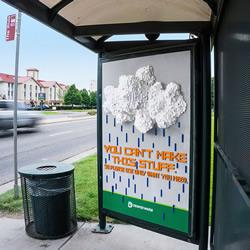 用各种材料拟造水 艺术性节水宣传创意广告