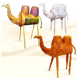 酸奶瓶和吸管变废为宝 手工制作骆驼模型
