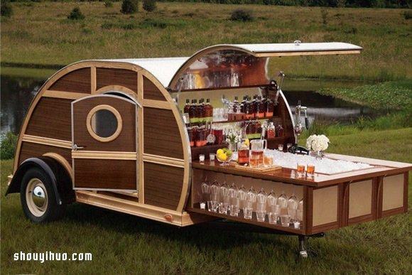 露營車概念移動酒吧設計 隨時戶外開PARTY