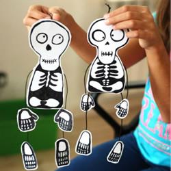幼儿玩具:好玩骷髅小人挂件手工制作方