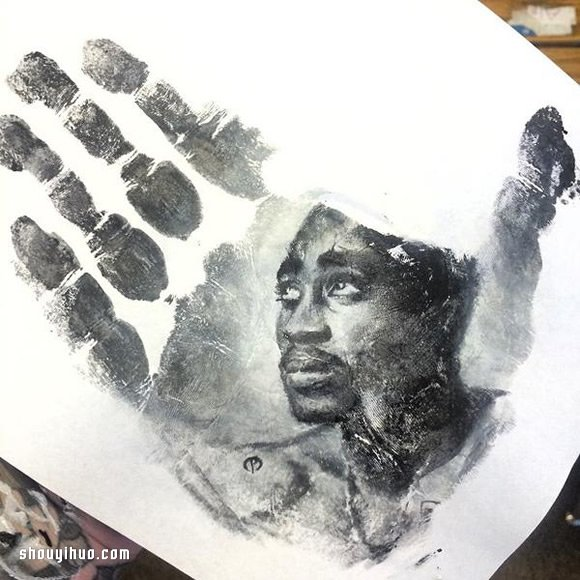 Russel Powell 掌印押畫 真正的手工印章