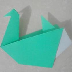 折纸水鸟的方法图解 手工水鸟的折法教程