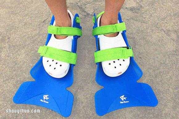 夏天玩水必備!不需一再穿脫的拖鞋用蛙鞋