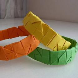 折纸手镯手环的折法 手工手镯手环折纸图