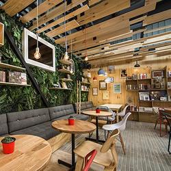 奇幻风味复合式书店 静谧有活力的购书空间