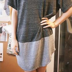 旧T恤DIY改造时尚又清凉的加长T恤的方法
