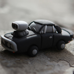 纪念Paul:软陶粘土DIY制作硬线条汽车