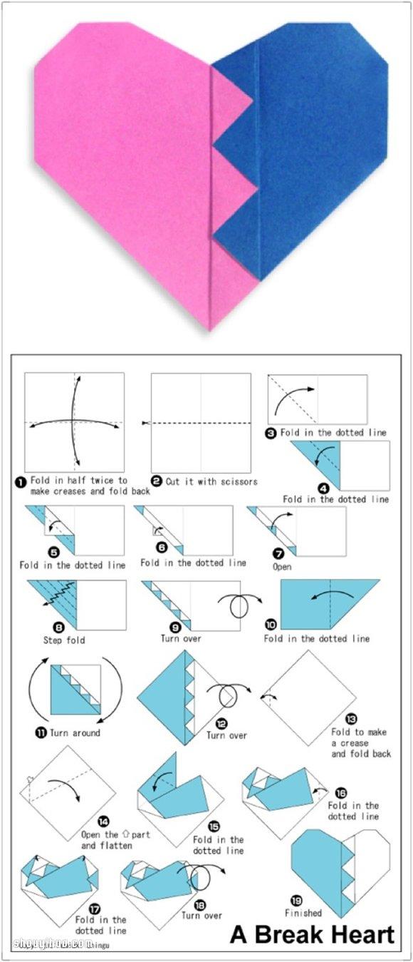 双爱心的折法_六种折纸心的方法图解 手工折纸爱心的步骤_手艺活网