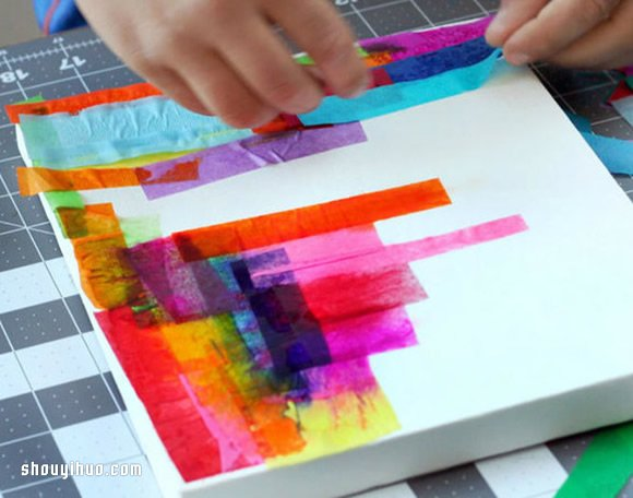 抽象风装饰画的手工DIY制作方法图解教程 -www.shouyihuo.com