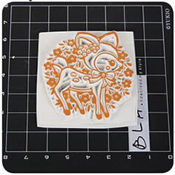 梅花鹿图案橡皮图章的制作方法带详细步骤