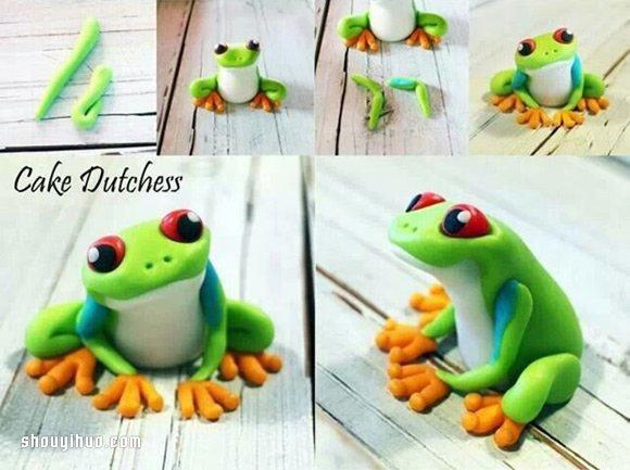 軟陶粘土青蛙的製作方法圖解