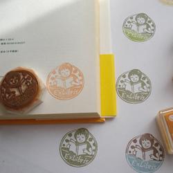 小女孩图案橡皮章藏书票DIY手工制作图解