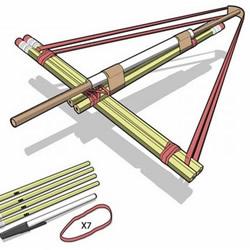 自制玩具弩的方法 用铅笔和皮筋制作玩具