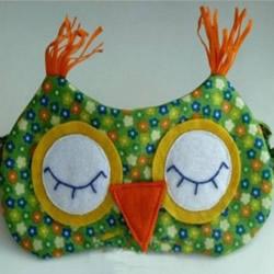 不织布猫头鹰眼罩制作 很好用还很好玩