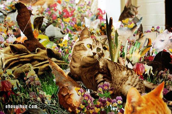 剪纸拼贴艺术 将家变成了斑斓的童话森林 -  www.shouyihuo.com