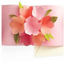 花瓣贺卡的制作方法 手工剪纸制作花瓣贺
