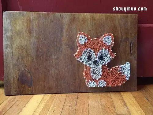String Art藝術 利用釘子和線DIY裝飾畫