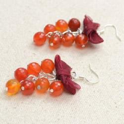 串珠耳环DIY手工制作 就像戴着丰收的果实