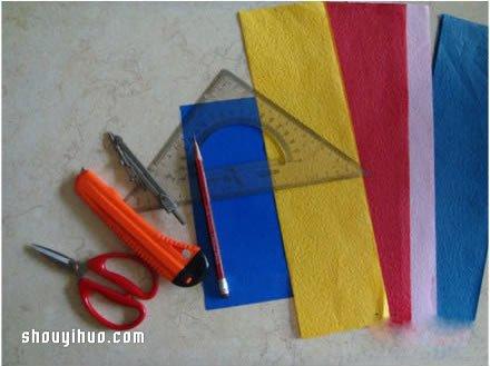 DIY简单漂亮的纸编心的方法图解教程 -  www.shouyihuo.com